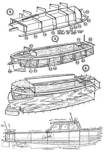 power launch model boat plan