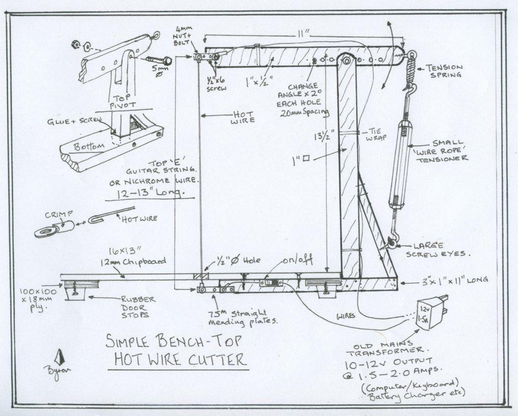 [DIAGRAM_5FD]  Homemade Hot Wire Foam Cutters - Hints, Tips & Technical | Hot Wire Foam Cutter Design Diagram |  | Model Boats magazine