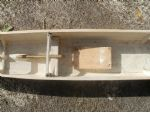 Views of one of the hulls after having been stripped filled and given a coating of sanding sealer