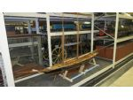 Rather incongruously sharing space with locomotives is this magnificent builder's model of the racing yacht Gleniffer. Designed by G.L. Watson and built at Henderson�s Shipyard in Glasgow, it was for some time the largest two masted schooner in the world.