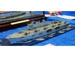 It's hard to appreciate that this 1700 scale model of HMS Ocean is only 150mm long!