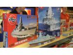 Airfix were keen to promote their new 1:350 scale kit of HMS Daring.