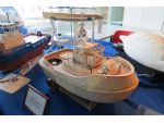 Seen on the Kirklees MBC stand was this superb under construction all timber model of the Canadian tug Warrior.