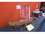 An unusual model by Bill Richardson of how a Viking ship might well have looked.