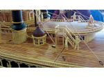 Every part of the Natchez model is made from wood, even the rigging and stays!
