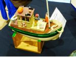 This Footy in-shore fishing boat was built by Chris Larsen from a (currently not available) George Turner kit.