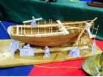 Nottingham MBC had this intriguing diorama of a wooden boat under construction by various craftsmen, here depicted as cardboard cut-outs.