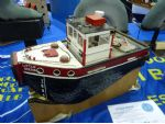 Little Shuva built by Darran Newman attracted a lot of attention on the Goole MBC stand. The full sized vessel plies its trade in Goole Docks and as its name implies, shoving things around!
