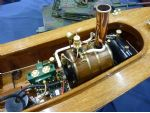 The powerplant in Bryan Smith's model of Lady Celia, on the CADMA stand.