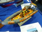 A nicely detailed model of an RNLI RIB on the Redcar MBC stand.