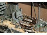 The funnel and boat deck of David Brown's HMS Warspite show his amazing attention to detail.
