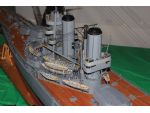 Geoff Dixon's HMS Iron Duke was not easy to photograph, but this shows the quality of the model.