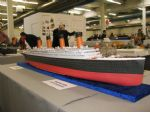 A 1:200 scale card model of the S.S. Titanic.