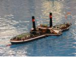 A beautiful model of the Rhine paddle steamer Koln.
