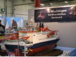 A large scale working model of the research ice breaker RV Polarstern. The ship was commissioned in 1982 and is operated by the Alfred Wegener Institute of Polar and Marine Research based in Bremerhaven.