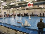 The pool is large enough to demonstrate racing yachts as well as scale sail craft.