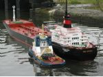 Cast off the tugs! This model is 12 feet long.