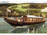 A classic painting of Gondola underway.