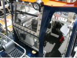 The inside of the cab of the Talus tractor replicates the original perfectly.