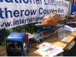 A tractor unit, trailer and a Tamar lifeboat by Chris Guttridge, who was responsible for organising the event.