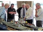 As part of the Model Boat Convention a judging course is organised. Here on the left are Steve Kirby (leaning forward), Paul Freshney centre and Ken Daniels (on Paul's left) endeavouring to impart some of their combined wisdom.