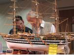 Amerigo Vespucci, the Italian Navy training ship, superbly built by M. Knowles.