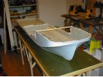 The actual hull from the GRP moulds.