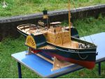 Inchcolm � a nice neat model paddle tug (builder's name not supplied).