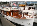 The M.V. Deerleap, an 85 foot 'Gentleman's Yacht' which was built in Vancouver in the 1920's and subsequently served in WW2 as a naval vessel.