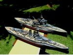 Both models of HMS Warspite.