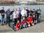 Bristol. A happy bunch of trophy winners at Bristol Dock.