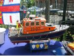 A well turned out 1:12 scale model of the 33ft Brede class RNLB Inner Wheel. The original was based at Poole in Dorset between 1983 and 2001. Although sold out of service in 2002, she now continues service as a rescue boat in South Africa.