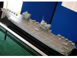 Sneak Preview! A builder's model of the new RN Carrier design. (Paul Freshney)
