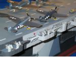 Photo 12. Stan Reffins CVE USS Gambia Bay, now almost completed and Including a number of subtle pieces of detail.