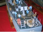 Photo 14. Figures add much to models, as the stern of David Jacks USCG vessel aptly shows.