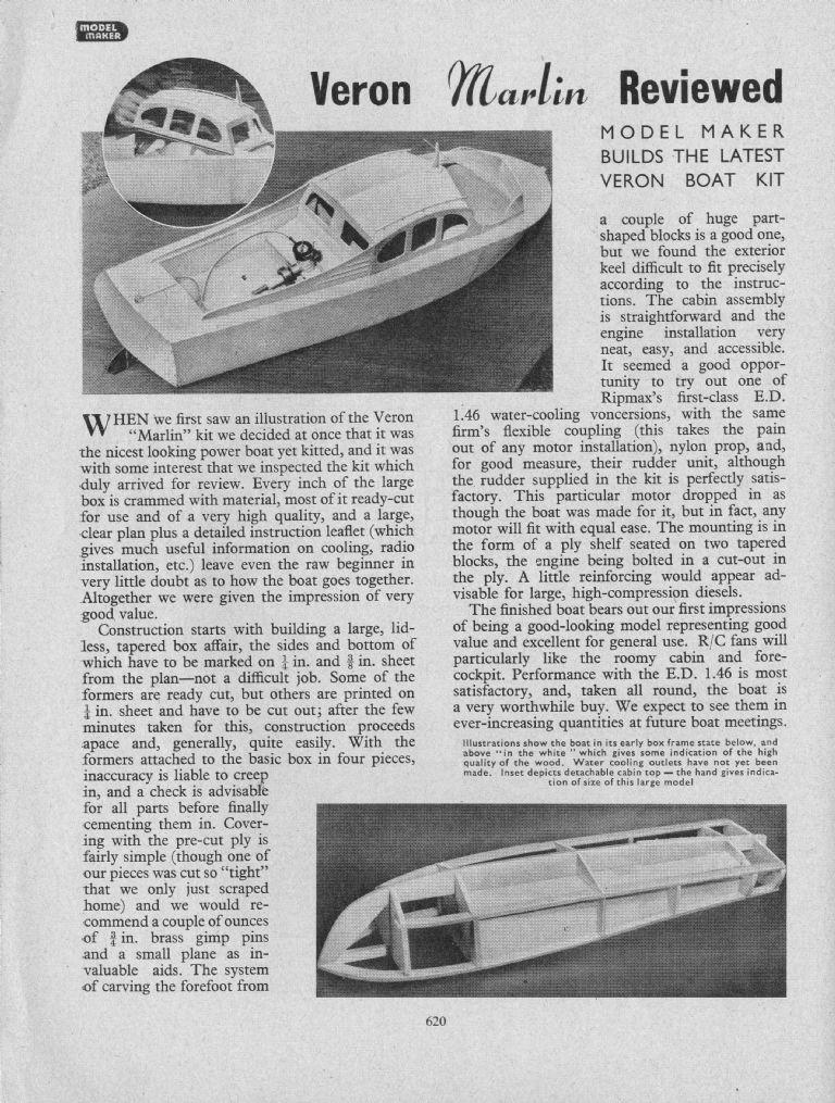 Veron marlin cabin criuser | Model Boats