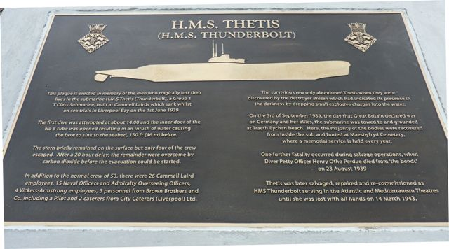 hms thetis memorial Loss of the thetis 1939 liverpool daily post, thursday october 2nd, 1939 trapped body released  bresnen, lost on hms thetis in june, aged 55, frank richard .
