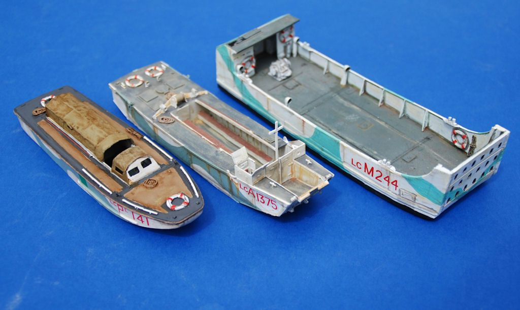 3 Landing Craft in 1/76 by Milicast