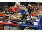 Some of the large number of lifeboat models of all types and sizes on display.