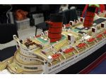A detail view of the working Queen Mary model.