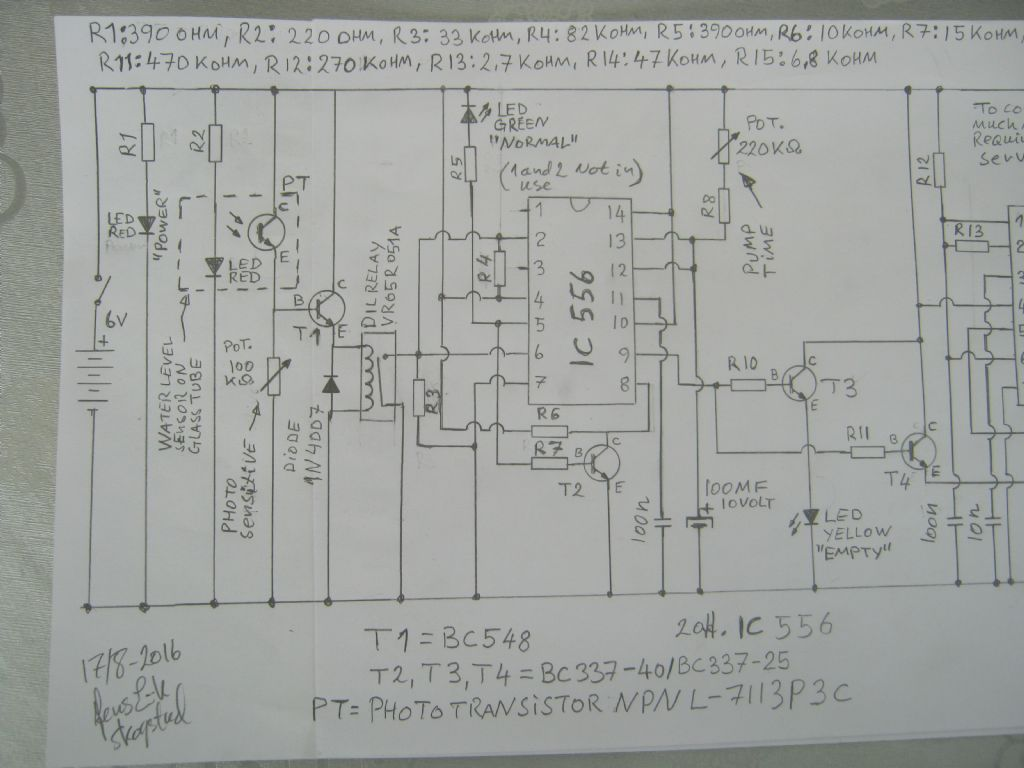 Automatic Boiler Water Level Control System With Phototransistor Simple Controller Circuit